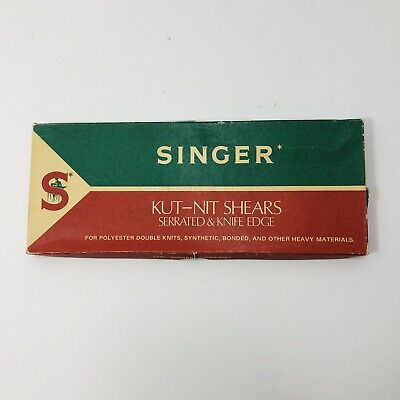 Singer Sewing Scissors Shears Kut-Nit Serrated & Knife Edge C808 Original Box