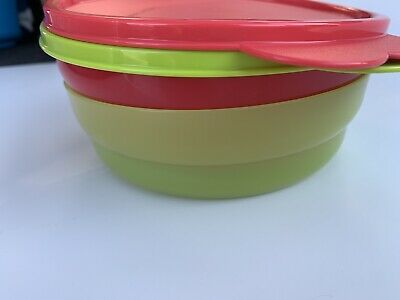 Tupperware Microwave Impressions Cereal Bowl Set of 2 New Random Colors.