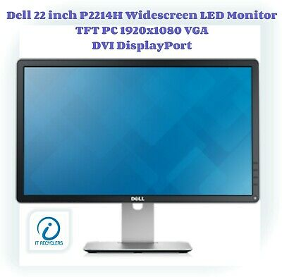 Dell 22 inch P2214H Widescreen LED Monitor TFT PC 1920x1080 VGA DVI DisplayPort