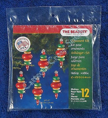 "Christmas Bead Kit Victorian Baubles Ornament Makes 12 2.25"" 5.7 cm Quick Easy"