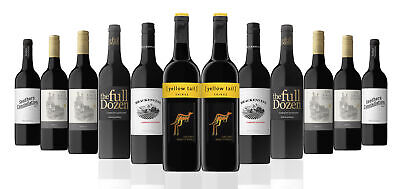 Australia's Best Seller Red Mix Wine w/ Yellow Tail Shiraz (12 Bottles) RRP $189