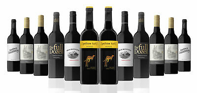 Australia's Best Seller Red Mixed Wine Featuring Yellow Tail Shiraz (12 Bottles)