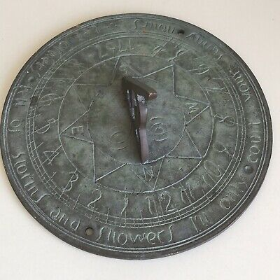Antique Bronze Sundial Dated 1767 Reclaimed Beautiful Patina
