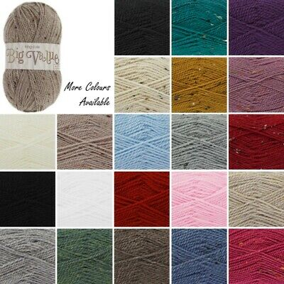 King Cole Big Value Aran Wool Yarn 100% Premium Acrylic Weight 100g