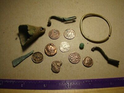 Lot Ancient to Medieval or Post - Medieval metal detector finds !!