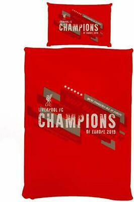 Liverpool FC Single Duvet Set - CHAMPIONS OF EUROPE Bedding Gift Set