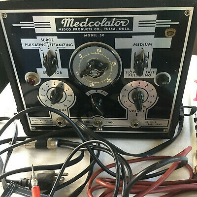 Medcolator Muscle Stimulator Model 50 1950's with informational books