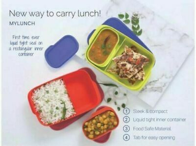 Set Of 2 X Tupperware My Lunch Box | Air & Water Tight | Slim & Easy To Carry
