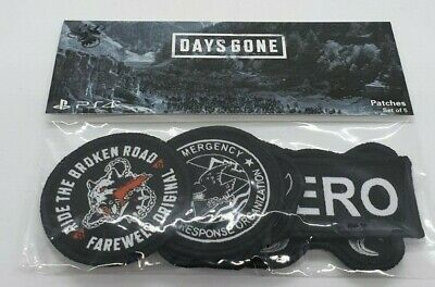 Official Days Gone Sony Playstation PS4 Set Of 5 Patches - New