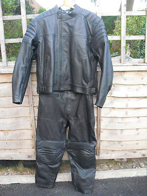 Frank Thomas 2 Piece Leather  Motorbike Jacket And Trousers - New And Unworn