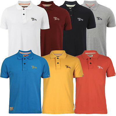 Tokyo Laundry Mens Ezequiel Polo Shirt New Pique Short Sleeved Tee Collared Top