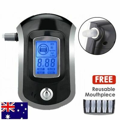 Portable Digital Alcohol Breathalyser Breath Tester Breathtester Blue LCD Hot AF