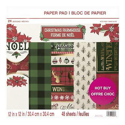 Craft Smith Design-Papierblock 30,4 x 30,4cm (48 Blatt) - Christmas Farmhouse
