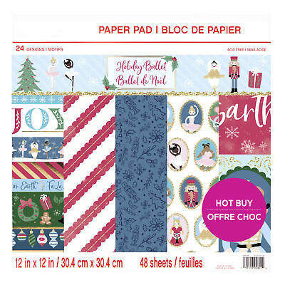 Craft Smith Design-Papierblock 30,4 x 30,4cm (48 Blatt) - Holiday Ballet