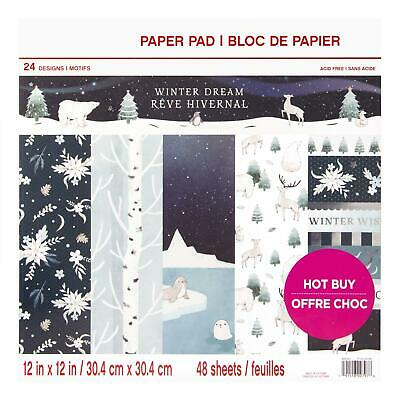 Craft Smith Design-Papierblock 30,4 x 30,4cm (48 Blatt) - Winter Dream
