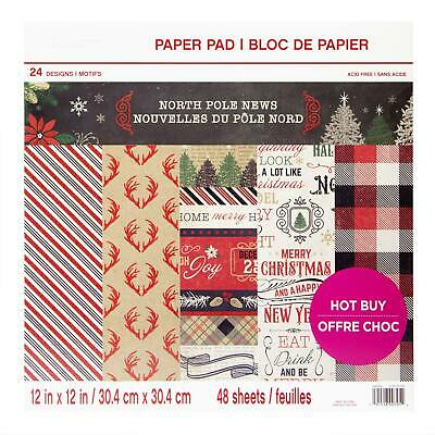Craft Smith Design-Papierblock 30,4 x 30,4cm (48 Blatt) - North Pole News
