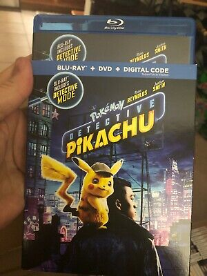 Detective Pikachu Pokémon Blu-ray & Dvd Disc & slip No Digital Free ship/Track