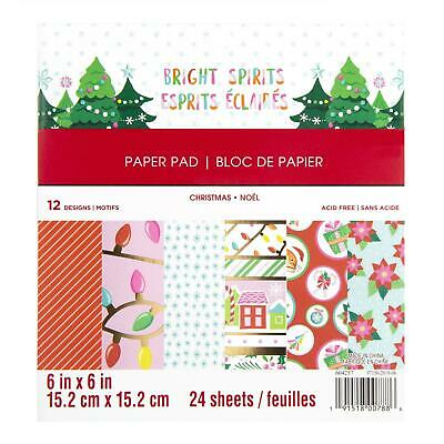 Craft Smith Design-Papierblock 15,2 x 15,2cm (24 Blatt) - Bright Spirits