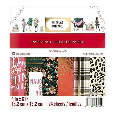 Craft Smith Design-Papierblock 15,2 x 15,2cm (24 Blatt) - Miss Claus