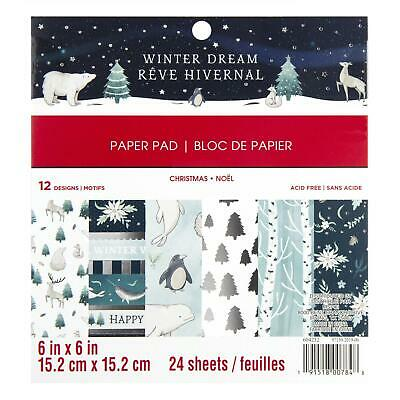 Craft Smith Design-Papierblock 15,2 x 15,2cm (24 Blatt) - Winter Dream