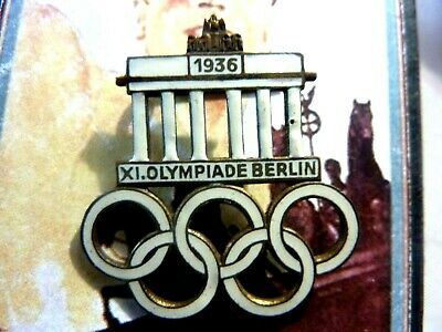 Vintage 1936 Berlin Olympic games enamel pin badge Germany Pre WW2