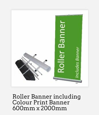 Pop up Banner, Roller, roll up, pull up banner - Exhibition stand Printed 600mm