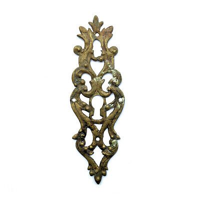 Antique Large French Victorian Ornate Brass Door Escutcheon Keyhole Cover