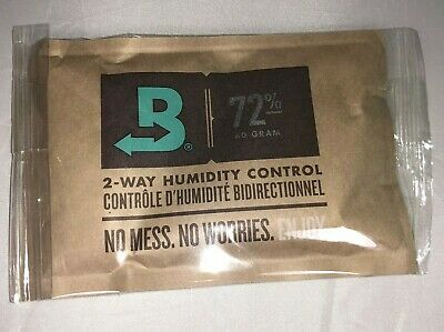 Boveda 72% RH 2-Way Humidity Control -Large 60 gram INDIVIDUALLY WRAPPED 1 packs