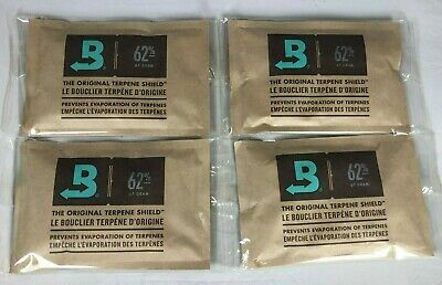 Boveda 62% RH 2-Way Humidity Control -Large 67 gram INDIVIDUALLY WRAPPED 4 packs