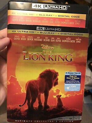The Lion King Live 2019 4k UHD & Blu-ray Combo no digital plus Slipcover