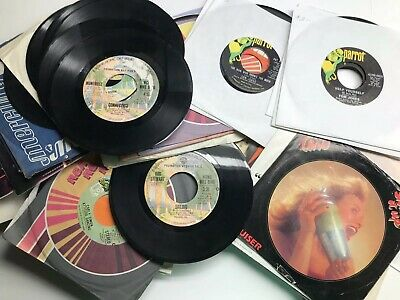"""(100) VG+ 45 rpm New Old Stock 7"""" Vinyl Records Jukebox Rock Pop Country Soul"""