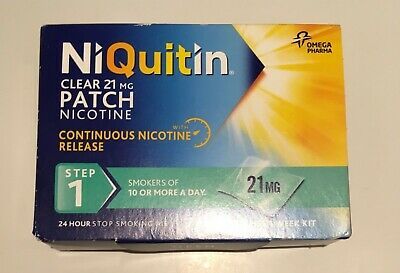 Niquitin step 1 21 mg 7 clear patches