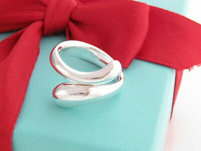 Tiffany & Co Sterling Silver 925 Elsa Peretti Teardrop Ring Size 6.5 MSRP $500