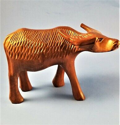 Vintage Wooden Hand Carved Water Buffalo