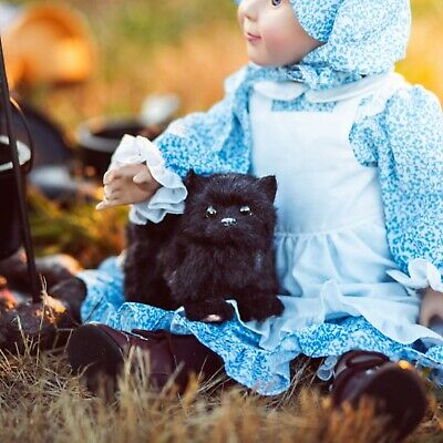 """The Queen's Treasures BLACK KITTY CAT Accessory Pet For 18"""" American Girl Dolls"""