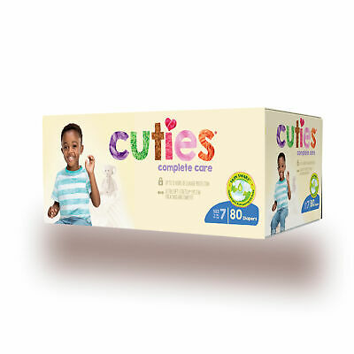 Cuties Complete Care Baby Diaper CCC07 Size 7 Case of 80, Assorted Animal Print
