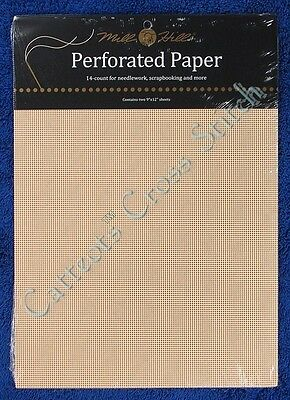 Perforated Paper for Cross Stitch Ecru 14 Count Mill Hill
