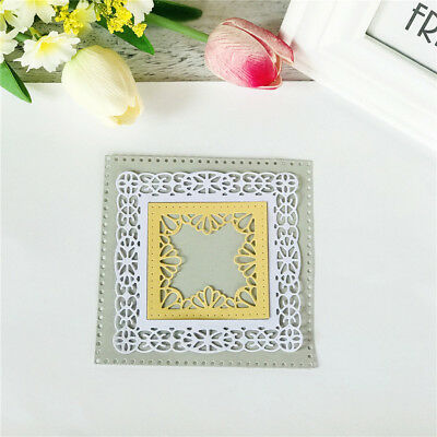 Square Hollow Metal Cutting Dies For DIY Scrapbooking Album Paper Cards  ME
