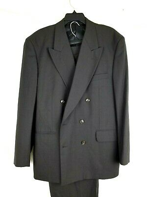 Christian Dior Men's Olive Green Solid Double Breasted Suit 44R Pants 36x32 $295