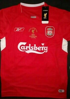 #3 RETRO Liverpool 2005 Shirt Istanbul Size Med NEXT DAY MADRID GERRARD 8