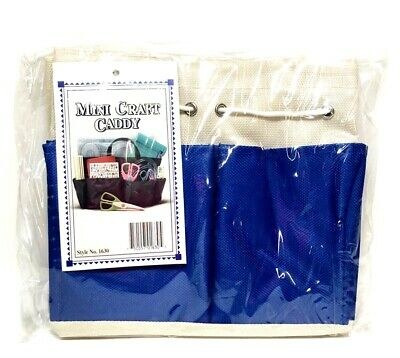 "Allary Style #1630 Mini Craft Caddy, 7""x4""x7"", Blue"
