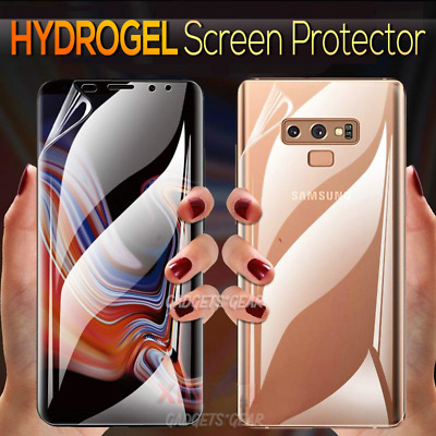 Samsung Galaxy S8 S9 S10 Plus Note 8 9 10+ HYDROGEL Full Cover Screen Protector