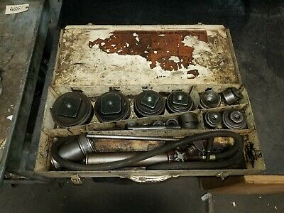 """Blackhawk Hydraulic Knock-Out Punch And Die Set 4"""" To 1/2"""""""