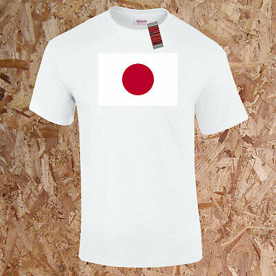Japan World Flag T-Shirt Geography Kids Adults Tokyo Asia Land of the Rising Sun