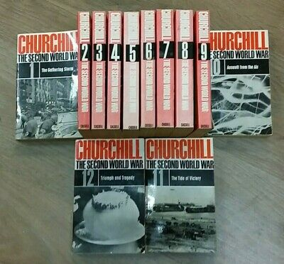 1 - 12 THE SECOND WORLD WAR SERIES by WINSTON CHURCHILL * FREE UK POST * P/B