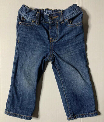 Preowned- The Childrens Place Straight Fit Denim Jeans Kids (Size 9-12 Months)