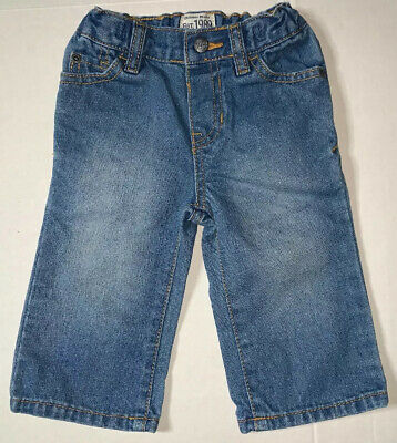 Preowned- The Childrens Place Bootcut Denim Jeans Kids (Size 9-12 Months)