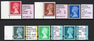 Gb Specialised Airmail Booklet Pane Singles Mnh
