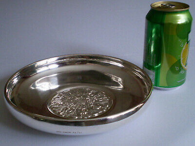"""Birks sterling silver 7 ¾ """" chased leafs bowl 234 g. 1958"""