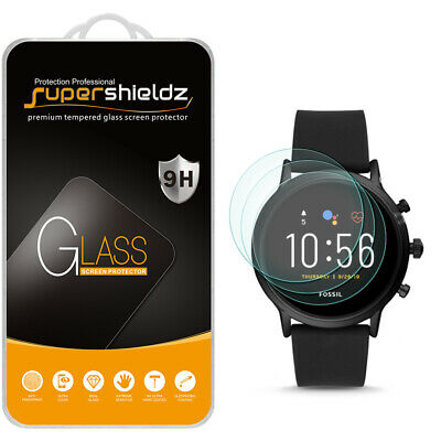 3X Tempered Glass Screen Protector for Fossil Gen 5 Smartwatch Carlyle HR